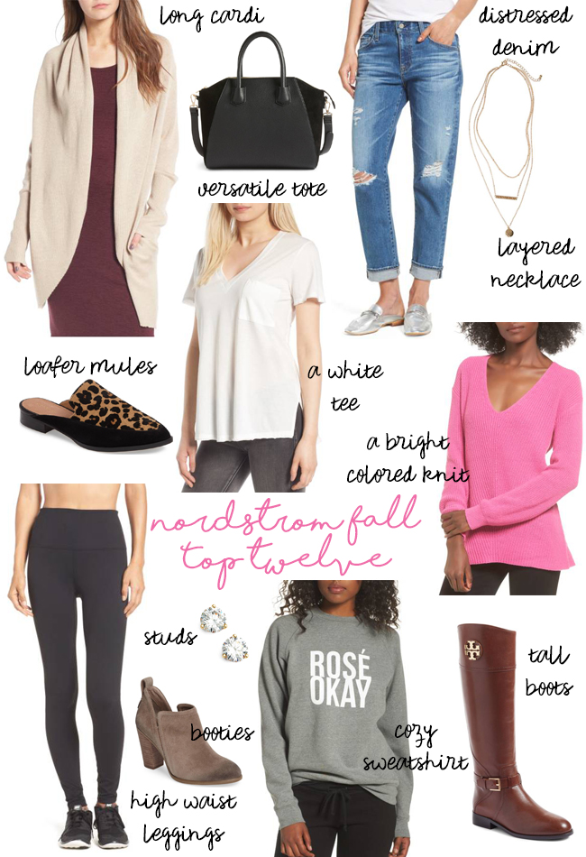 top twelve fall favorites from nordstrom