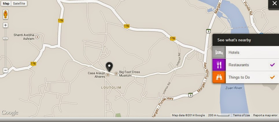 Casa Araujo Alvares Goa India Location Map,Location Map of Casa Araujo Alvares Goa India,Casa Araujo Alvares Goa India accommodation destinations attractions hotels map reviews photos