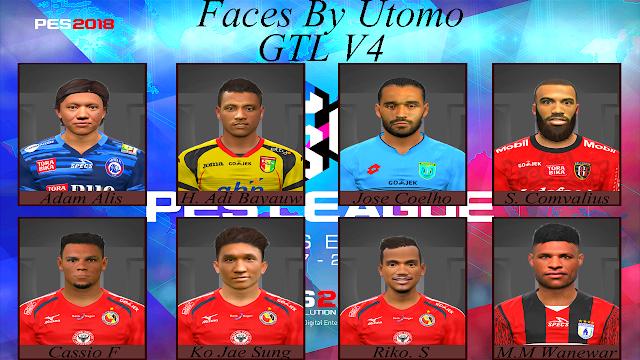 PES 2017 Liga 1 Gojek Traveloka Facepack V4 dari Utomo