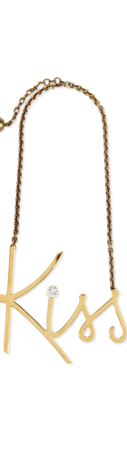 Lanvin Golden Kiss Pendant