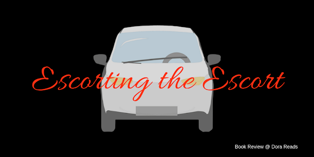 Escorting the Escort title image with black background, white car, and red writing