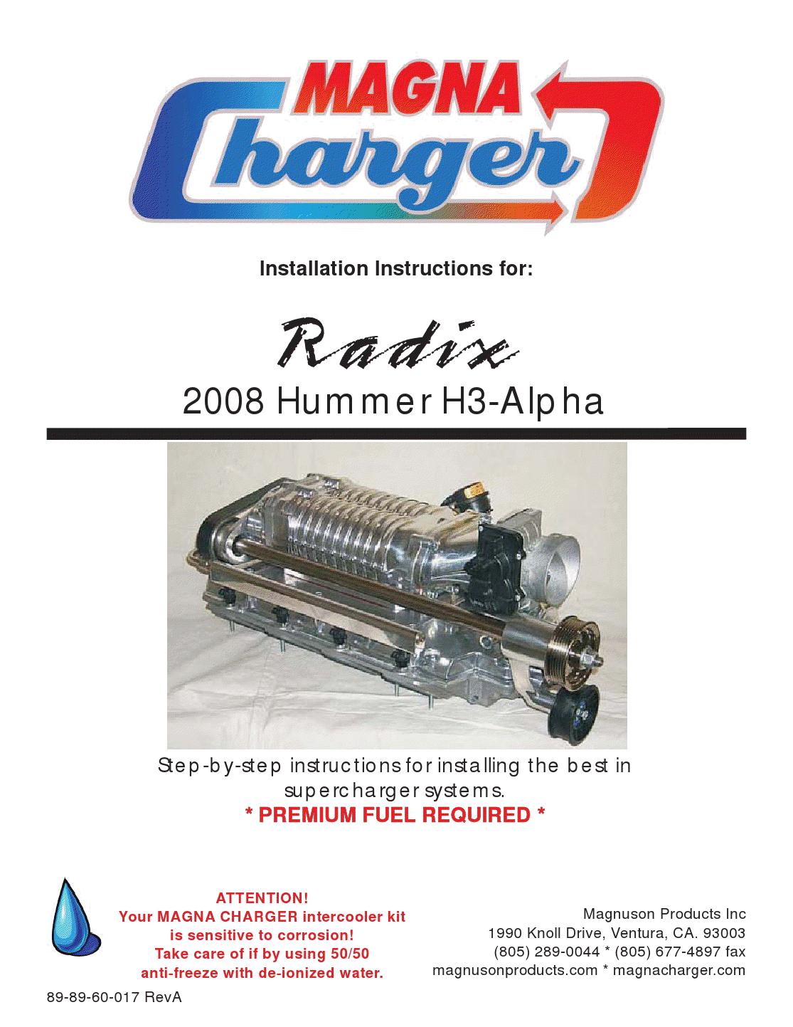 hummermanuals: Installation Instructions for: 2008 Hummer H3-Alpha