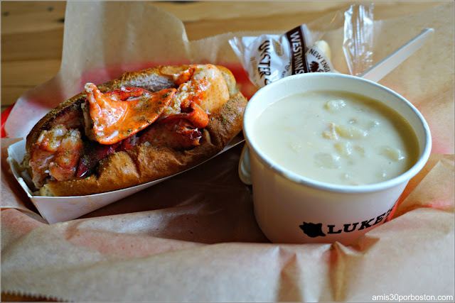 Lobster Combo en Luke's Lobster, Boston