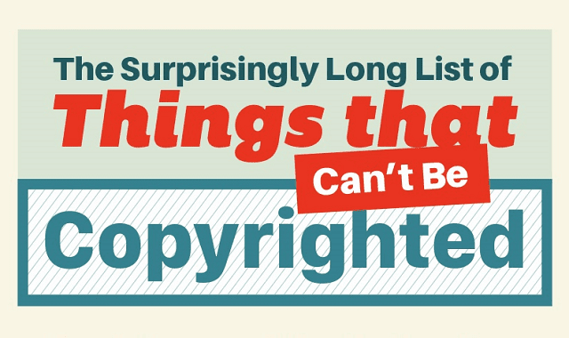 The Long List of Things that Can't Be Copyrighted