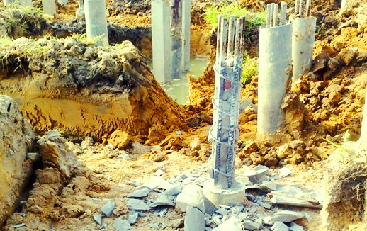 Reaching cut-off level of micropile