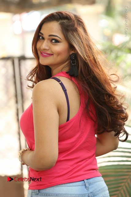 Tollywood Actress Ashwini Latest Stills in Ripped Jeans  0016.JPG