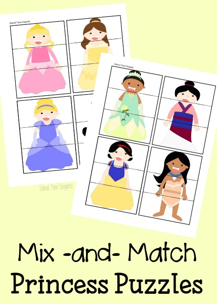 Printable Princess Puzzles