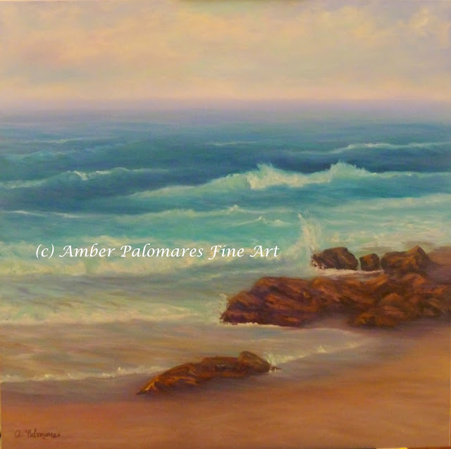 Coastal Rocks by Sea Painting