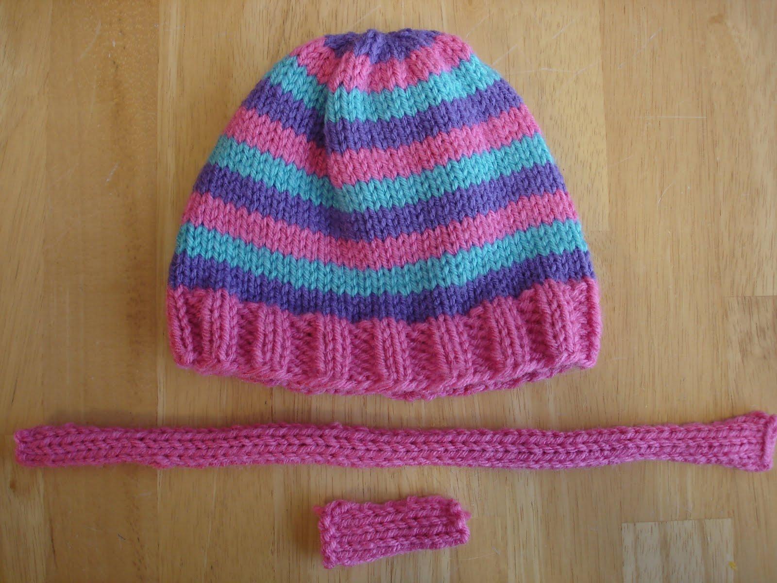 848233543e7 Fiber Flux  Free Knitting Pattern...Super Pink Toddler Hat!
