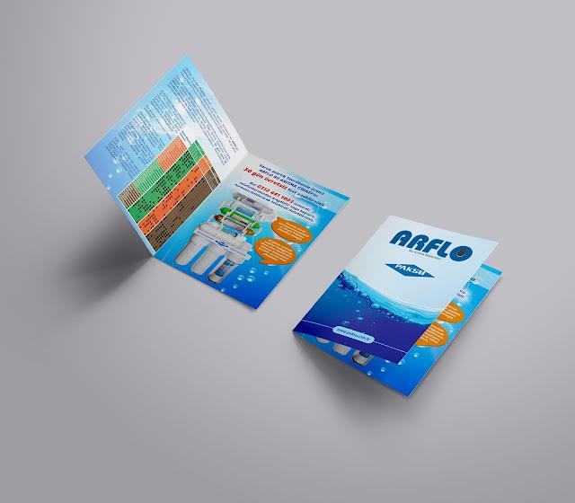 ARFLO Su Arıtma El Broşürü Tasarımı