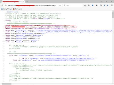 usernam dan password pada tag title - sqli lokomedia