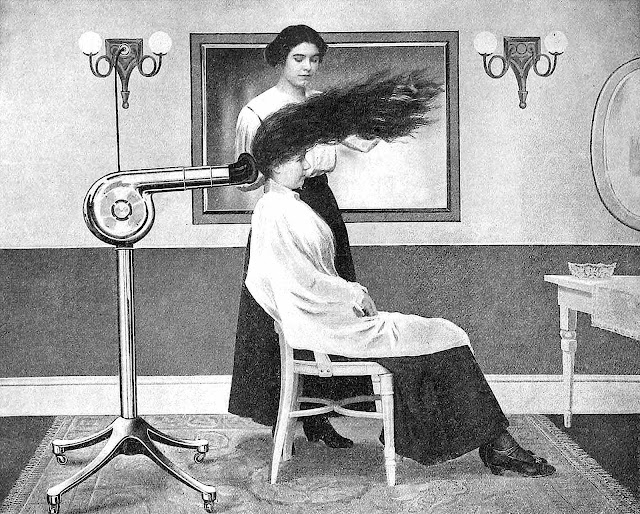 1919 hair salon illustration