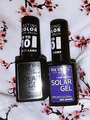 Lakier do paznokci i Top Coat SOLAR GEL Efekt lakieru hybrydowego- Revers Cosmetics