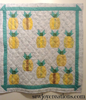 quick curve ruler mini pineapple quilt