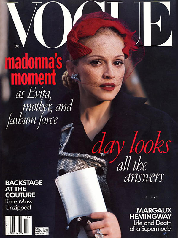 Vogue Usa Magazine Subscription: Pud Whacker's Madonna Scrapbook: In The Closet With
