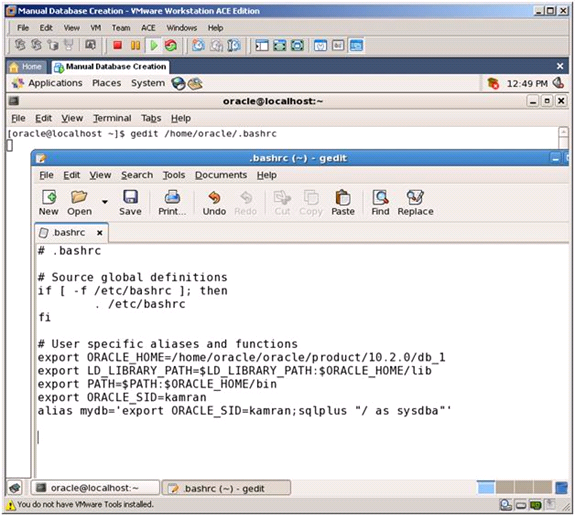 Oracle Manual Database Creation ~ Infra DBAs