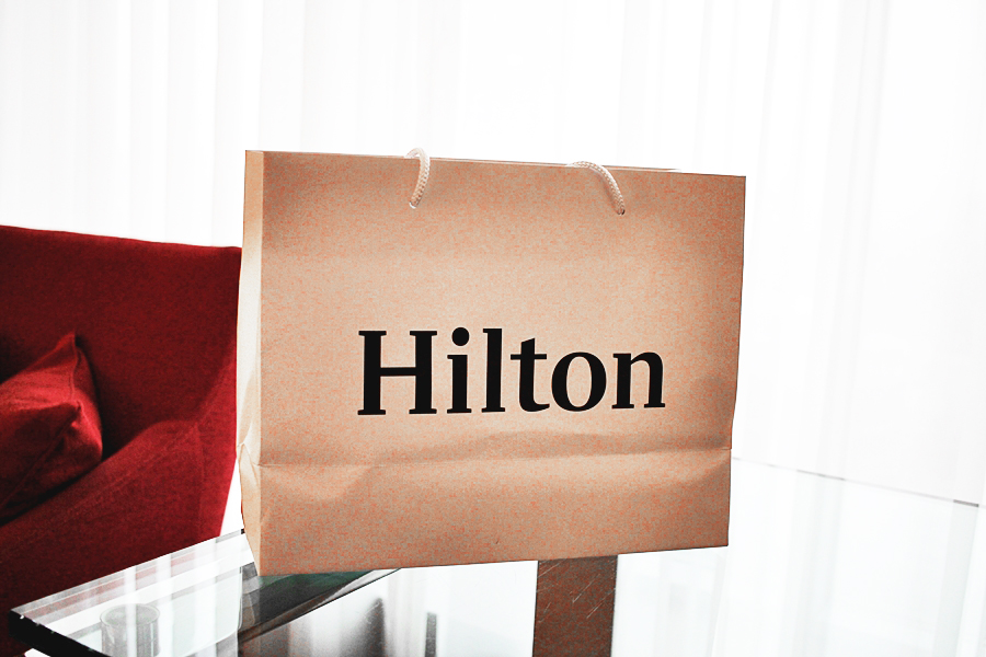 hilton goodie bag shopping