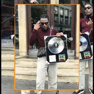 Burna Boy Shows Off His O2 Brixton Academy 'Sold Out' Status Plaque