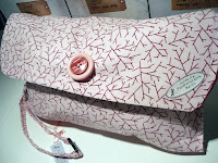 pink fuchsia girl cute custom made diaper clutch   http://panpancrafts.blogspot.de/