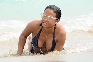 Christina Milian – wearing a bikini at a beach in Miami