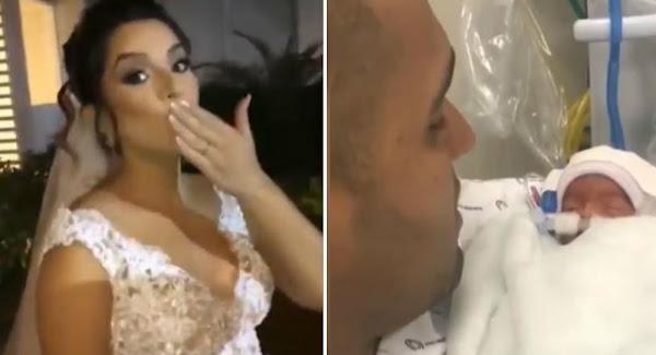 Έγκυος πέθανε λίγα λεπτά πριν το γάμο: Χήρος μ' ένα μωρό στην αγκαλιά ο γαμπρός - Βίντεο