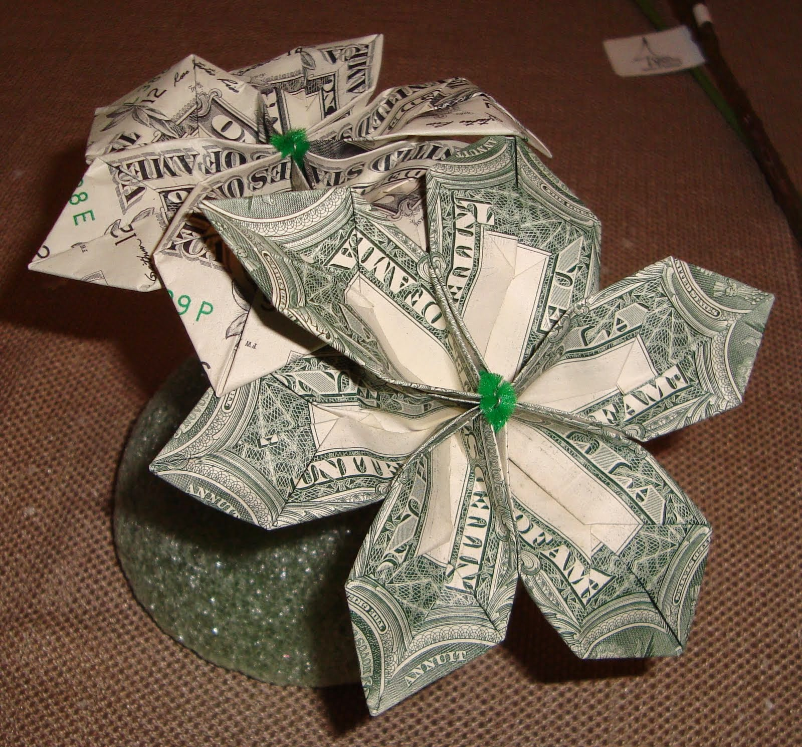 How To Make A Money Origami Flower ~ Bliss Tree - photo#9