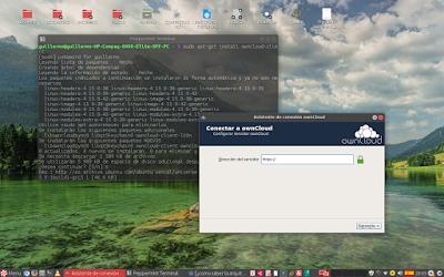 Peppermint OS de 32 bits no me permite arrancar el cliente de ownCloud