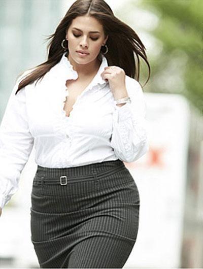 Look para mujeres gorditas para ir al trabajo