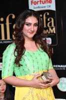 Sridevi Telugu Actressi in green Yellow Anarkali Dress at IIFA Utsavam Awards 012.JPG