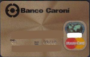 Recaudos y planilla solicitud T.C BANCO CARONI