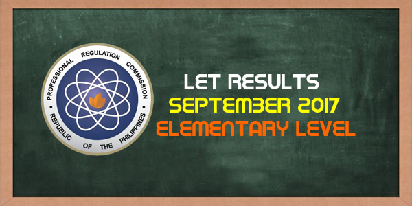 List of Passers September 2017 LET Results Elementary Level