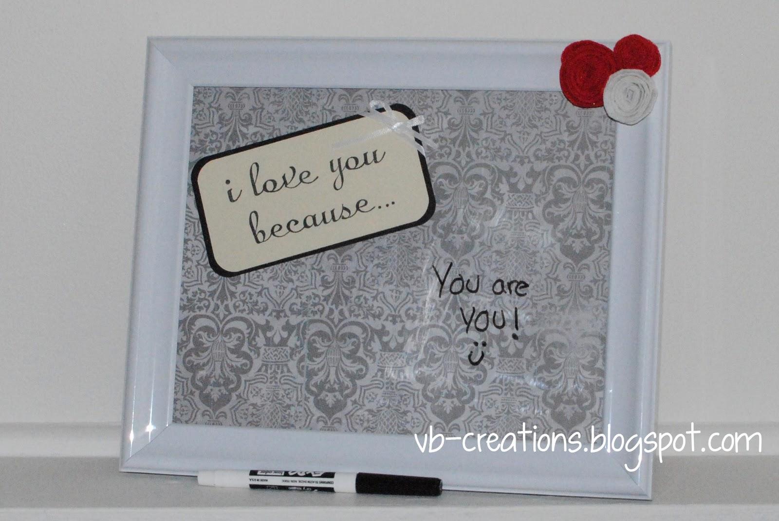Venassa B Creations: DIY Dry Erase Message Board