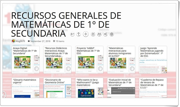 """10 RECURSOS GENERALES DE MATEMÁTICAS DE 1º DE SECUNDARIA"""