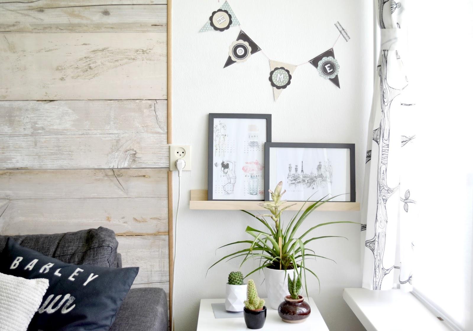 dekoracja na pustej ścianie