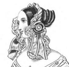 1840 Ladies' Cabinet of Fashion Evening Headdress