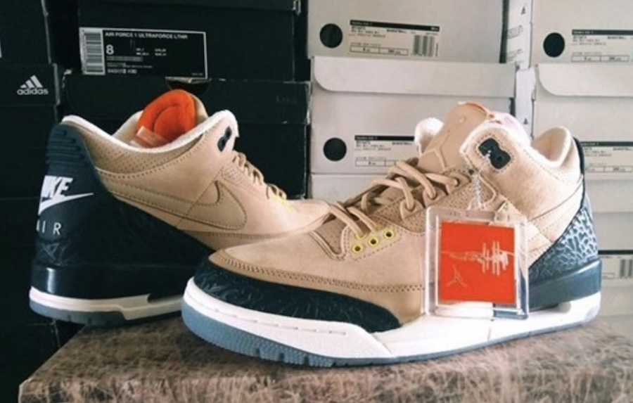 """f47b546ed5ea74 Jordan Brand will be expanding their Air Jordan 3 JTH lineup with an  upcoming """"Bio Beige"""" colorway for Summer 2018. A slight difference from the  pair ..."""