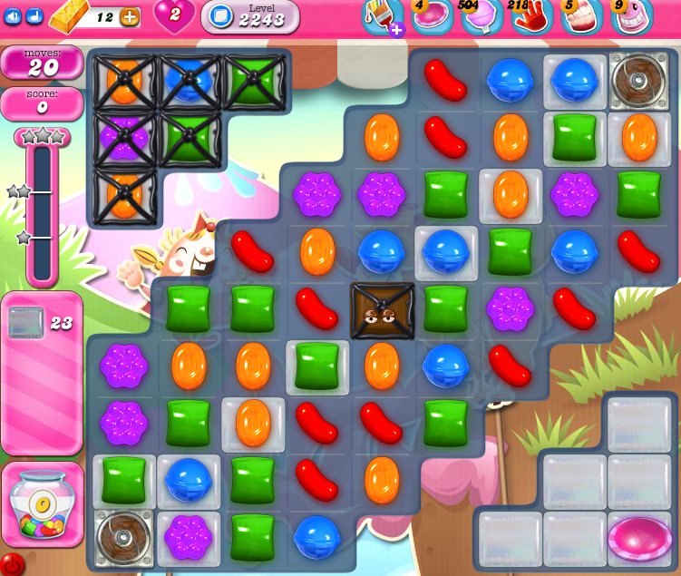 Candy Crush Saga level 2243