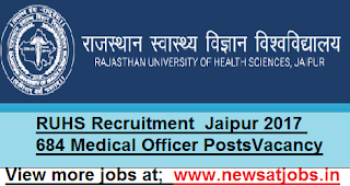 RUHS-684-officer-Recruitment-Jaipur-2017