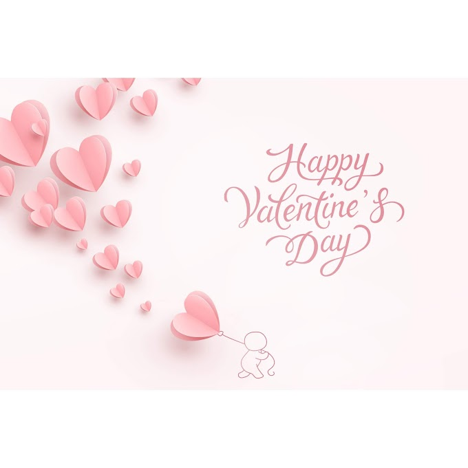 Origami card happy valentines day free vector