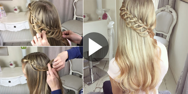 Learn - How To Create Simple Lace Loop Braid Hairstyle, See Tutorial