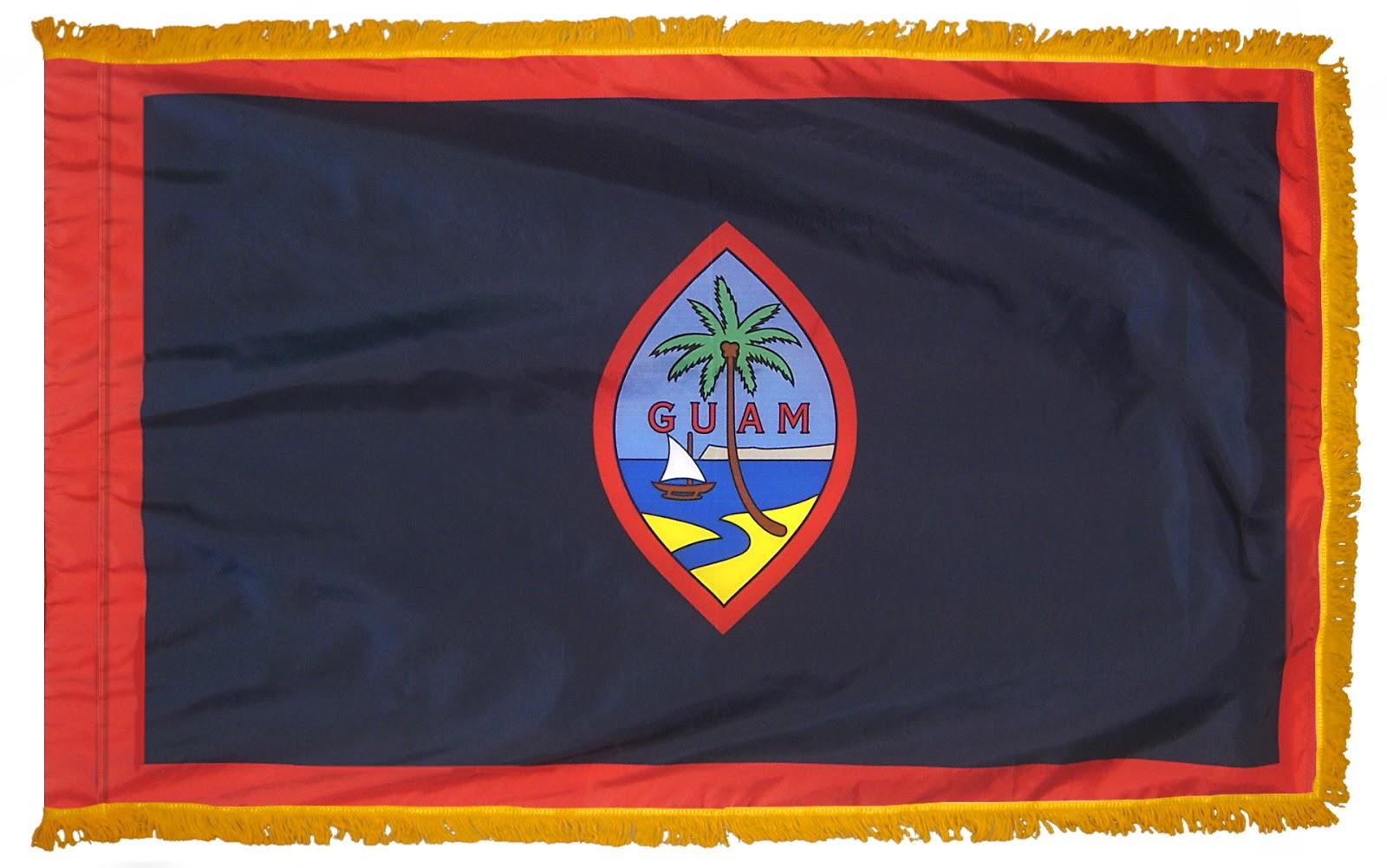 3d Broken Screen Wallpaper Graafix Flag Of Guam