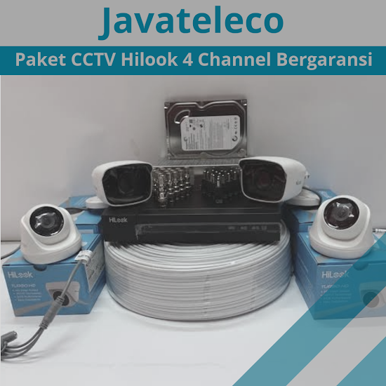 Paket CCTV Hilook 2mp 4 channel @3.000.000