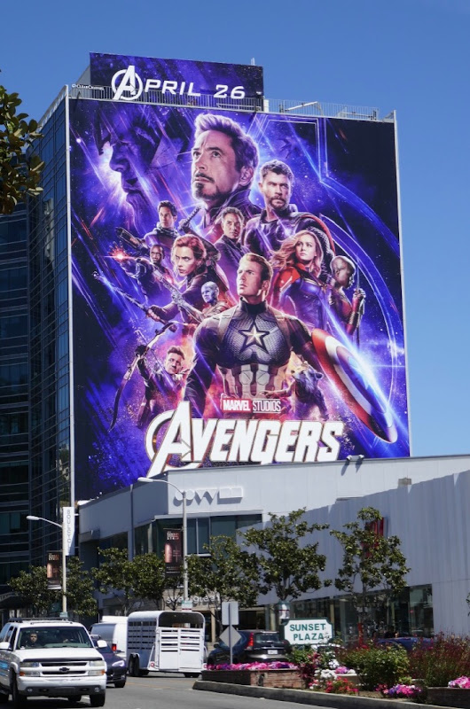 Giant Avengers Endgame movie billboard