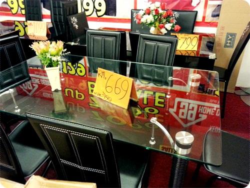 Meja Makan 6 Seats K Rm669 Huahaha