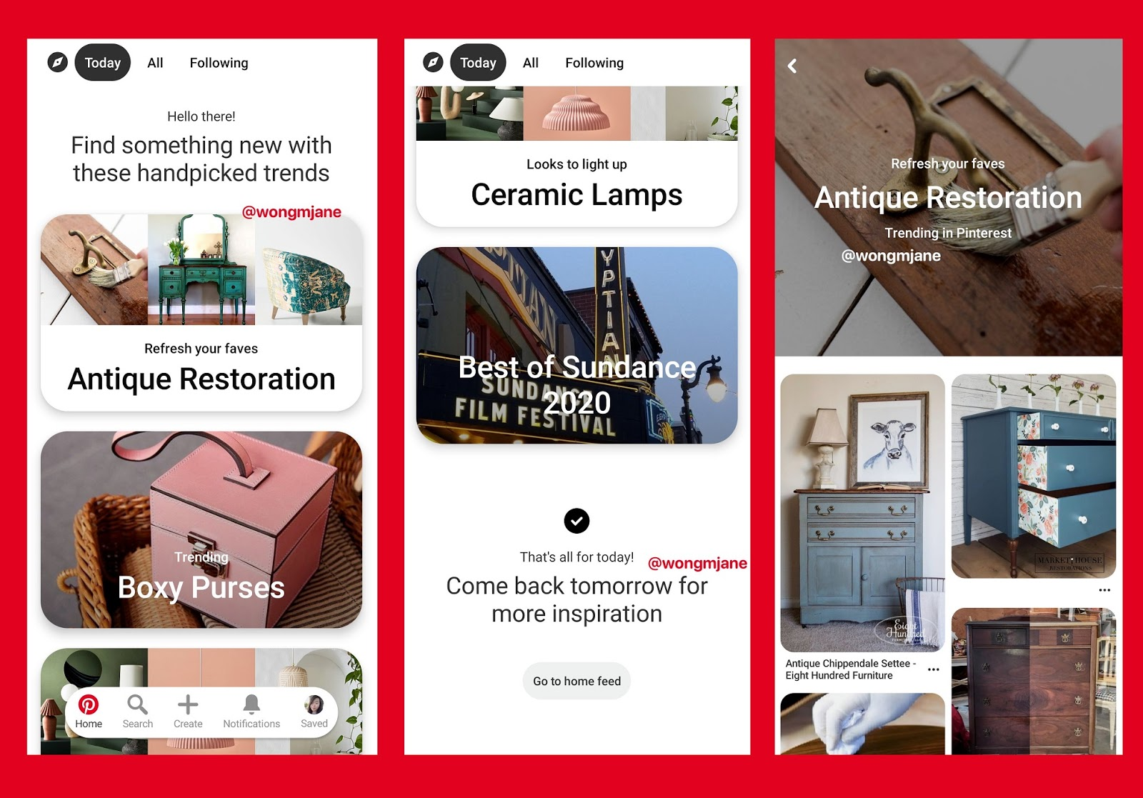Pinterest Is Working On Today Feed For Handpicked Trends