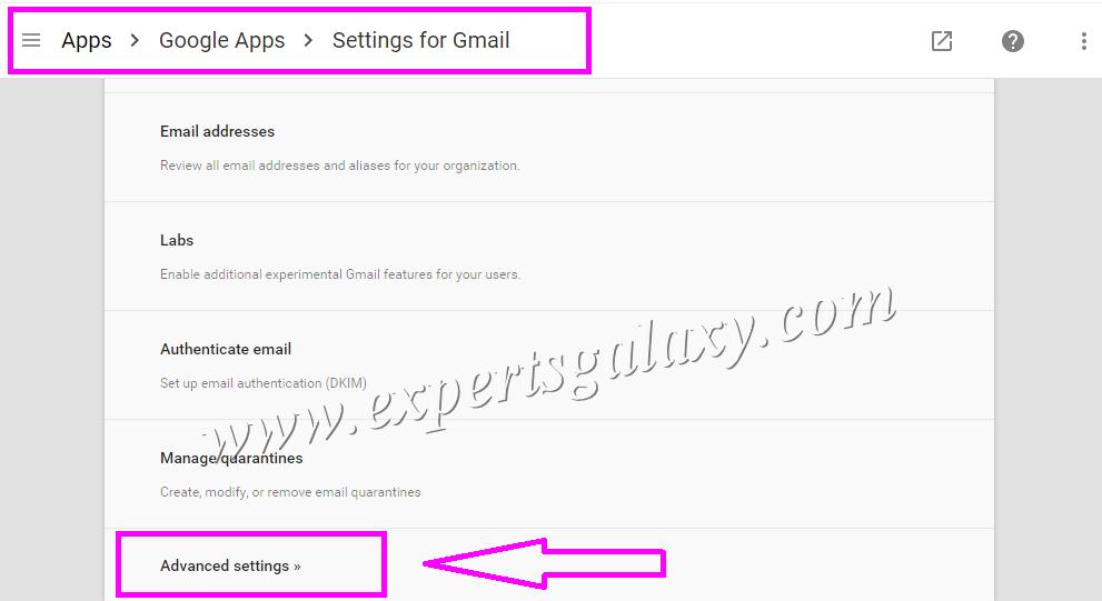 Google Apps Advanced Gmail Settings