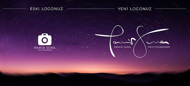 Photography Fotoğrafçı logo tasarımı imza png psd