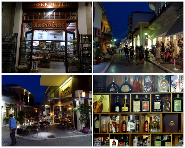 Shopping and night life scene in Preveza