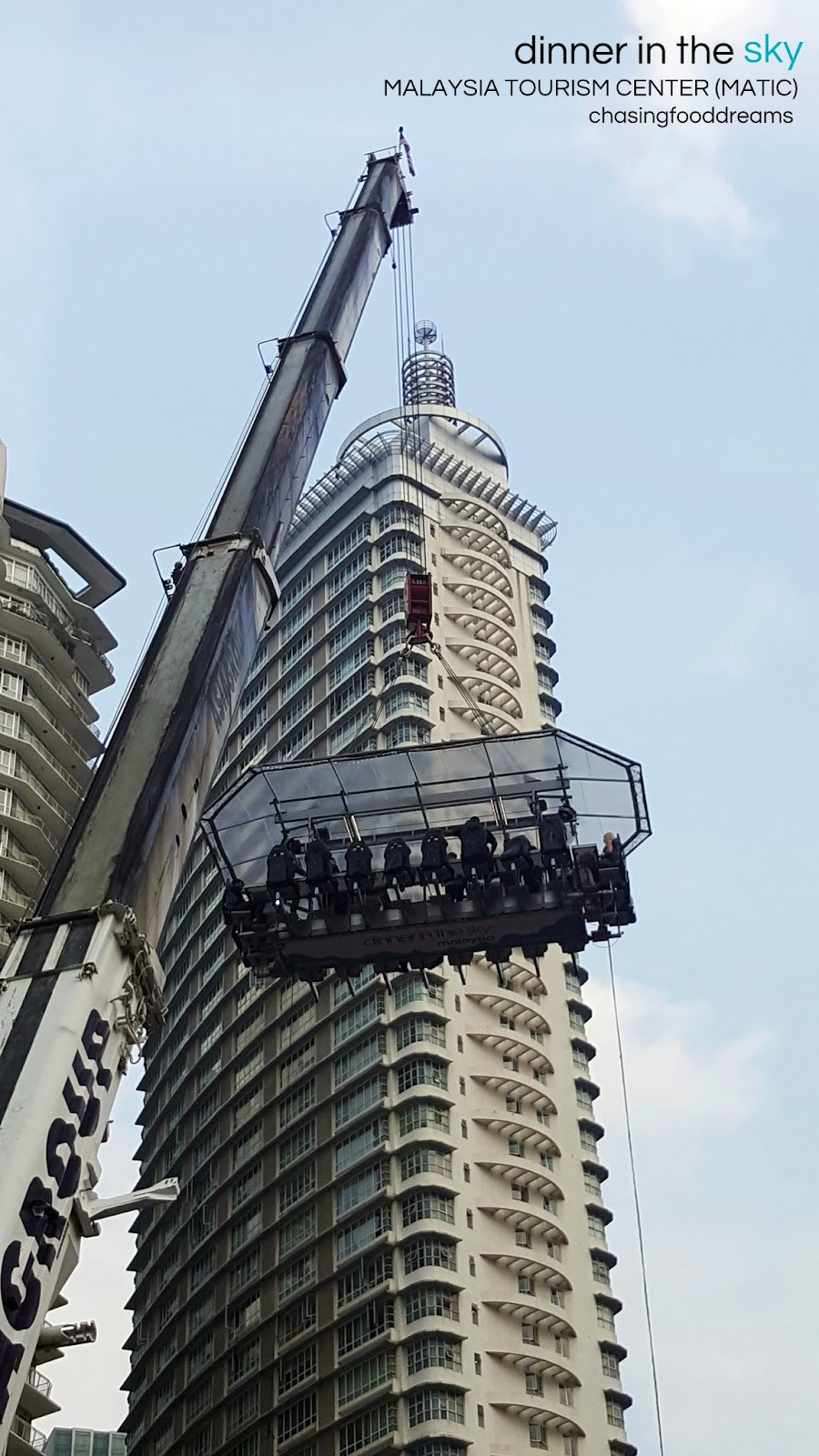 CHASING FOOD DREAMS Dinner In The Sky Malaysia Tourism Center - Dinner in the sky an unforgettable experience