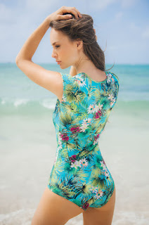 Costum De Baie Cosita Linda Tropical Island Green • Cosita Linda2